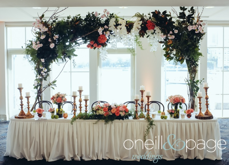 Bridal Table Hanging Floral Feature