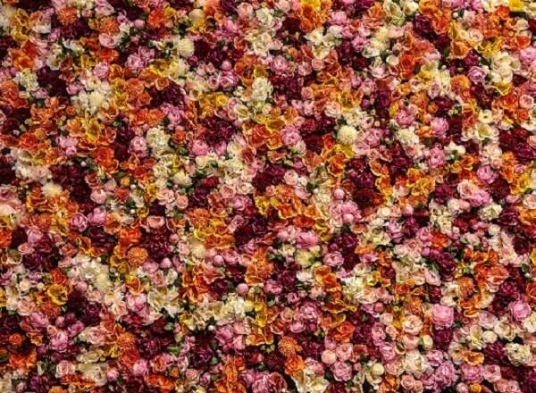 Custom Floral Wall Installation