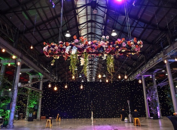Colourful Floral Swing Installation