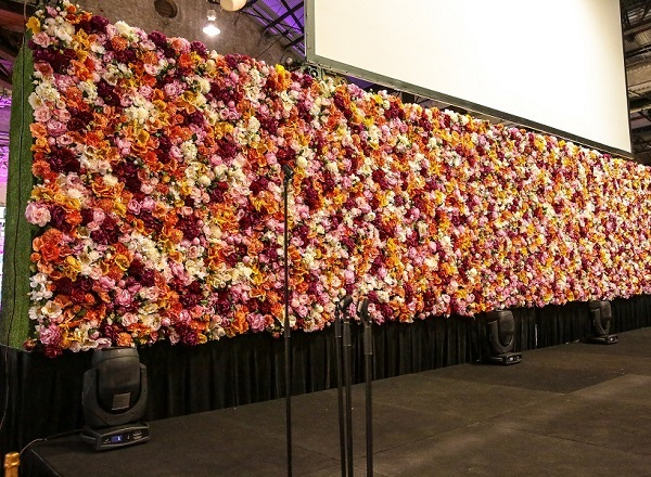 Colourful Floral Wall Installation