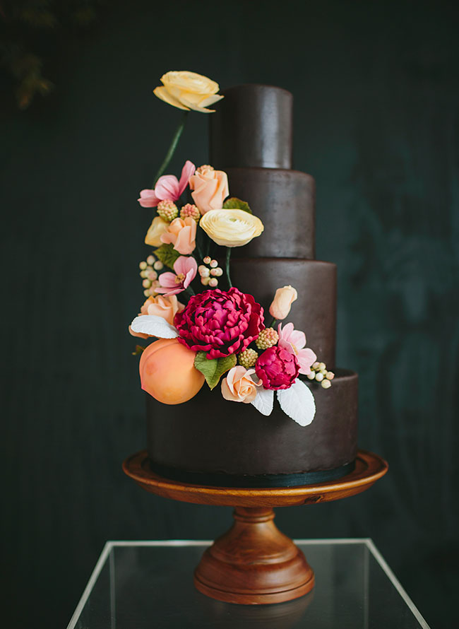 Berry hued cake