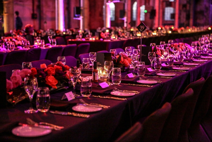 ATP Styled Gala Dinner Table Settings