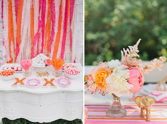 citrus colours summer bridal shower theme divine events