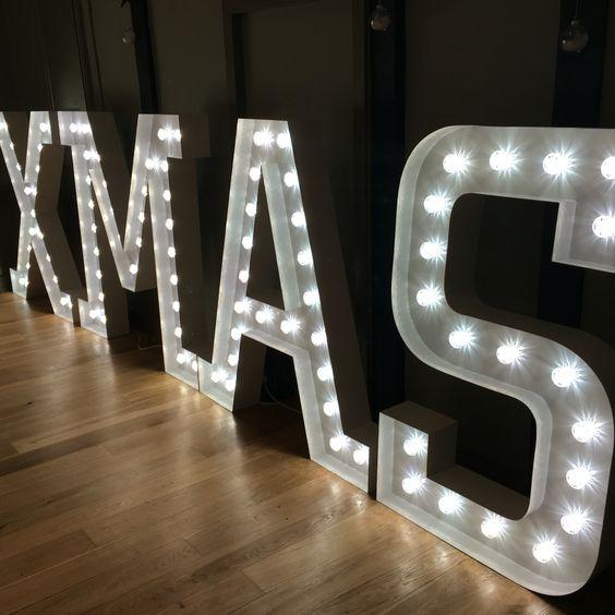 Bespoke light up letters