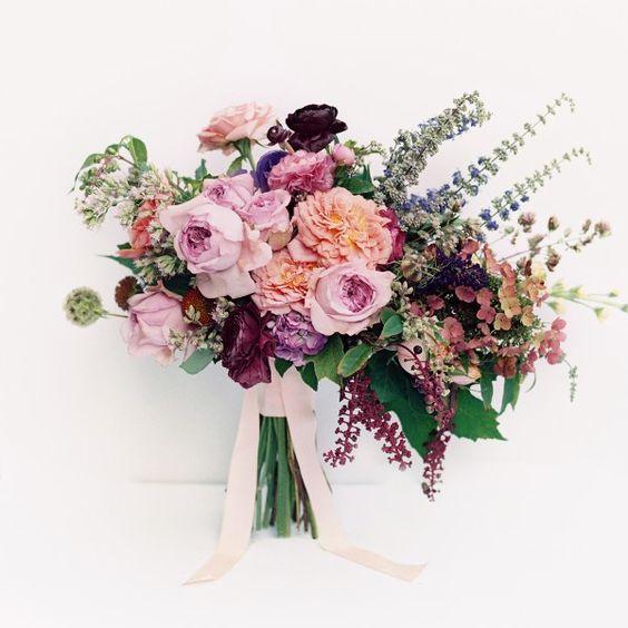 Pink hued bridal boquet