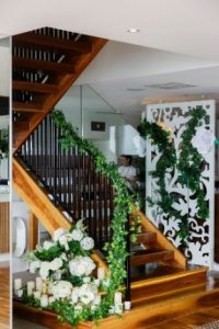 Trailing ivy staircase