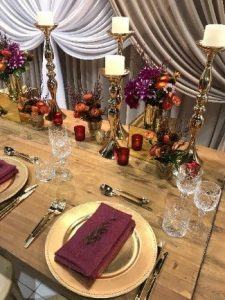 Autumn tones set table
