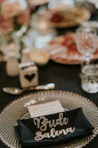 branded wedding serviettes