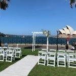 Sydney harbour white arch lawn