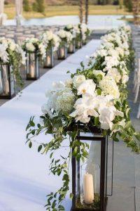 white carpet florals